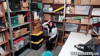Busty Muslim Thief Ella Knox Apprehended & Fucked By Store Guard