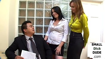 Dominating college chicks giving handjob and during SPH