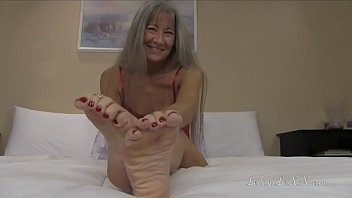 Mature bulge Red wiggling toes trailer