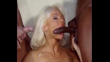Beautiful Blond Anal Bitch Helen Duval takes Big Black Cock DP's