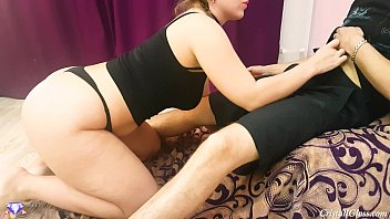Rough Blowjob for Submissive Wife - Cristall Gloss