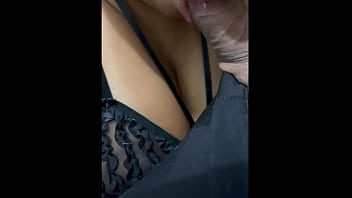 mom asks me for all the milk on her tits
