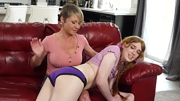 Trans Babysitter Gets taught a lesson by HOT milf