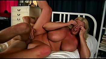 Beautiful big tits blonde old spunker enjoys a sticky facial cumshot preview image