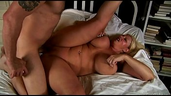 Big tits and curvyasses - Beautiful big tits blonde old spunker enjoys a sticky facial cumshot