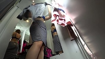 Peeping into the public dressing room, a view from below on a juicy ass and on a sexy girl with long legs, hidden camera. pornhub video