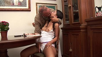 Old Goes Young - Man fucks a sweet brunette from behind