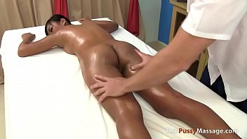 Massaging Her Young Thai Pussy