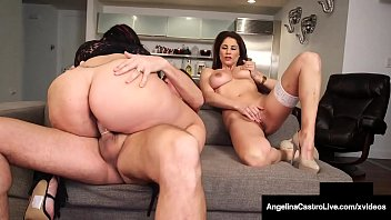 Phat Ass Angelina Castro Sucks & Fucks With Roberta Gemma!