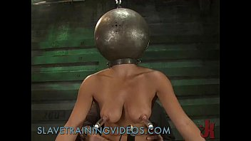 Bondage punishment - Busty brunette babe has been punished and pussy fucked by dildo