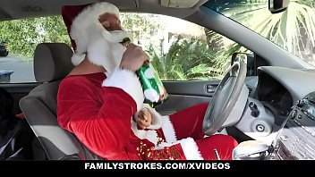FamilyStrokes - Big Tits Stepmom (Summer Hart) And Cute StepDaughter (Charlotte Sins) Share Hardcore Sex For Christmas