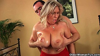 Mature busty womanwith mature woman Older woman with natural big tits gets fucked