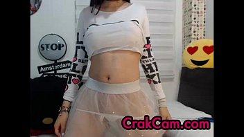 Adorable brunette play - crakcam.com - webcams online chat - full