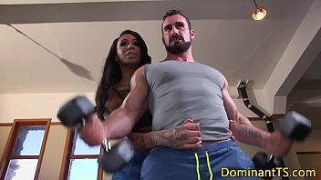 Black shemale magnificent margo the dominating Dominating ts fucks guys ass in the gym