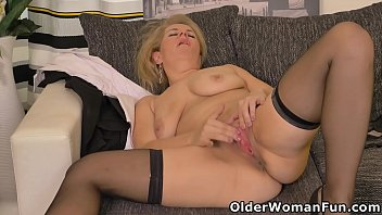 Hot milf Paege from Europe strips off and plays