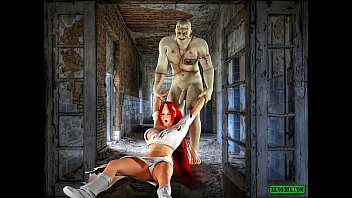 Frankenstein's Creature. Monster Porn 3D