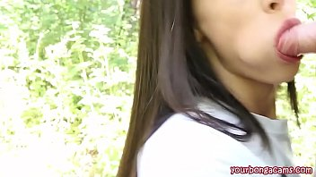 Russian beauty amazing blowjob forest yourbongacams...