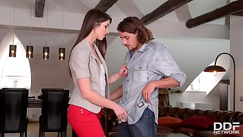 Young slim teen Susan Ayn seduces tourist to blow his dick & fuck him hard