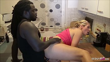 Girlfriend Tatjana Young Cheat with Huge Black Cock Neigbour while BF s. next room German