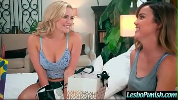 (Dillion Harper & Mia Malkova) Lez Girl Get Punish With Sex Toys By Mean Lesbo movie-06