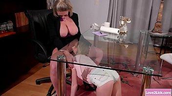 Milf boss facesits sexy housekeeper