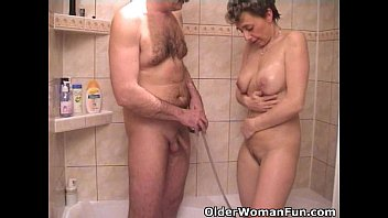 Granny and grandpa sex videos - Busty grandma sucks grandpas tiny cock
