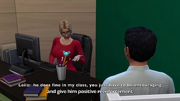 Sims 4:  Sexy Married Teacher Cheats With Her Student 15 min