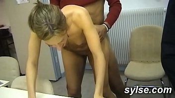 BBC for 2 Secretaries in office before anal orgy in shop for 3 MILFs porno izle