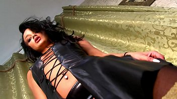 Sexy hot revealing dresses - Leather dress revealing all, hot tight pussy with piercing