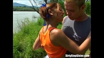 Outdoor Sex Blast With Nerdy Stepsister thumbnail