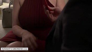 Tonights Girlfriend Sara Jay gives customer a very exclusive lap dance thumbnail