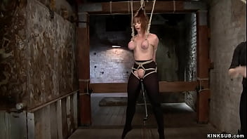 Busty lesbian gets corporal punishment