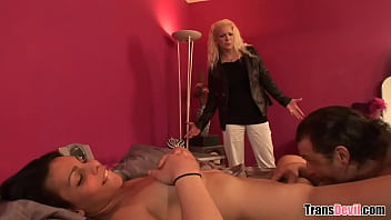 "That is one hell of a threesome with gf and mistress slut tranny <span class=""duration"">6 min</span>"