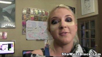 Busty slut Leya Falcon gets Rough Gangbanged by Black Cocks Image