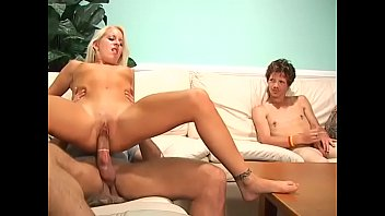 Blonde whore watch fuck each other...