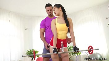 Coach bangs fit brunette Asian babe
