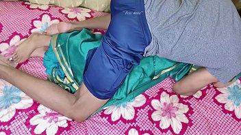 desi bhabi with saree fucked on bed