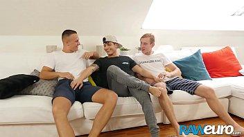 RAWEURO Raw Gay Threesome Going Wild Somewhere In Europe