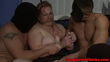 Bbw doms Restrained subs doublepenetrated by doms