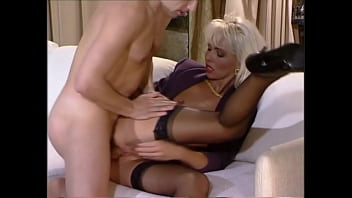 Beautiful High-Heels Blonde in Lingerie gets Big Cock up the Ass, Helen Duval