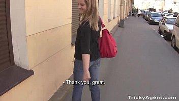 Tricky Agent - A blue-eyed chick Alena, shy but interested! 13 min