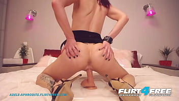 Flirt4Free - Adele Aphrodite - Sexy Hard Bodied Cam Girl in Heels Jams Big Dildo in Her Tight Pussy 17分钟