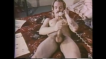 """Moustached fair-haired rear gunner is fond of drilling his arse with toy while throttling the turkey <span class=""""duration"""">16 min</span>"""