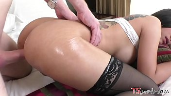 """Gorgeous TS Patty gets a huge white dong in her ass <span class=""""duration"""">6 min</span>"""