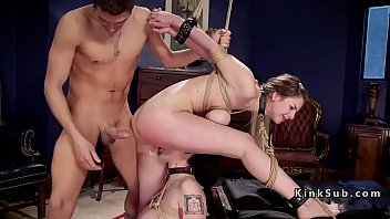 Threesome bdsm ass to mouth fucking