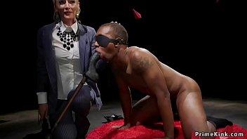 Milf mistress cnes cock to black slave
