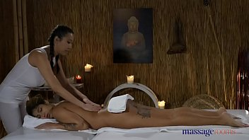 Massage Rooms Hot Latina Venus Afrodita licking sexy Asian Sharon Lee thumbnail
