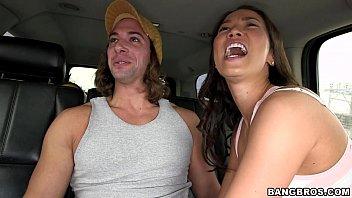 Asian  Car Handjob