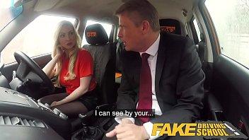Fake Driving School Mature guy spunks over blonde bombshell Georgie lyall Image
