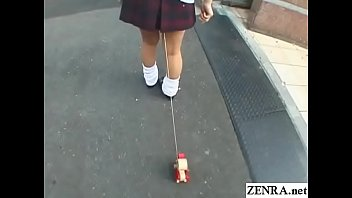 Bizarre JAV enema walk of shame for schoolgirl Subtitles